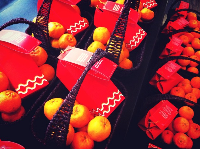 Baskets that are full of good wishes and good fortune are ready to be delivered to all respective clients.